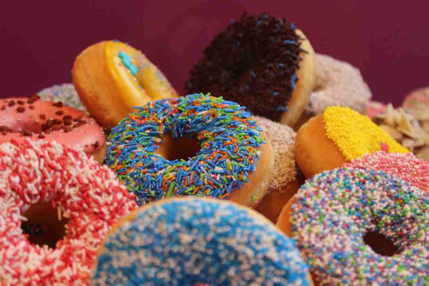 Donuts in different colors